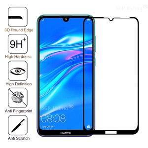 Защитное стекло 3D 9H для Huawei Y7 Pro, закаленное стекло с полным покрытием, Защитная пленка для Huawei Y7 Y 7 7Y Pro, Защитная пленка для экрана с полным по...