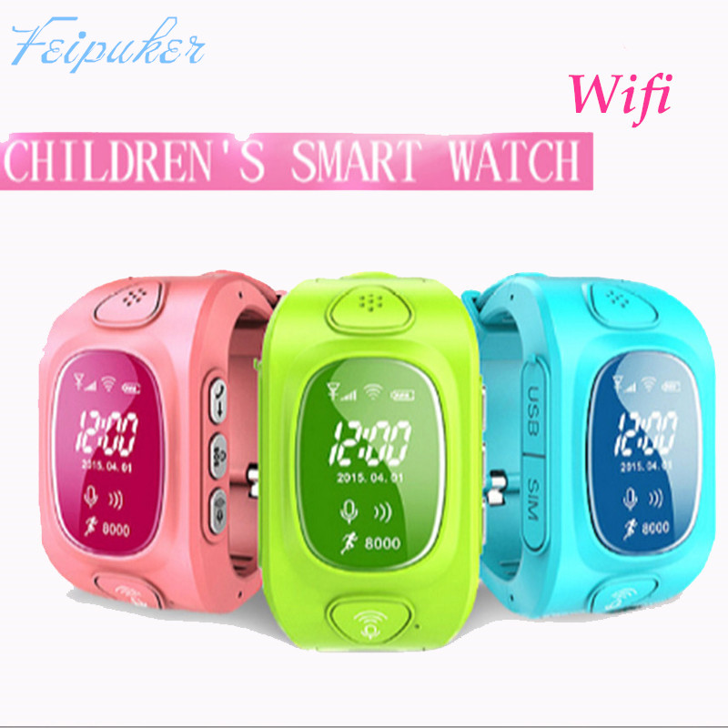 2016 New arrial font b GPS b font GSM Wifi Tracker Watch for Kids Children Smart