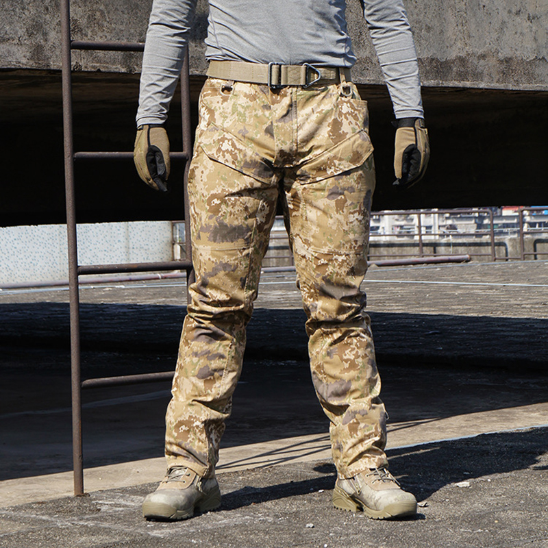 Airsoft Military Camouflage Outdoor Camo Creeper Duty Pants Camo Tactical Outdoor Trousers Pullover Tactical Pants fishing hunting camo hidden tactical pants trousers biomimicry jungle amouflage pants leaves wearable durable camouflage pants