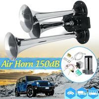 시끄러운 150db 3/트리플 트럼펫 기차 공기 호른 압축기 케이블 자동차 자동 보트|멀티-톤&클락슨 혼즈|   -