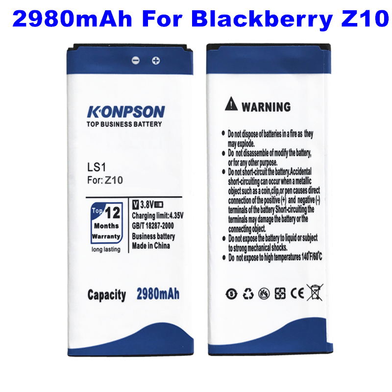 2980mah replacement ls1 phone battery for blackberry z10. Black Bedroom Furniture Sets. Home Design Ideas