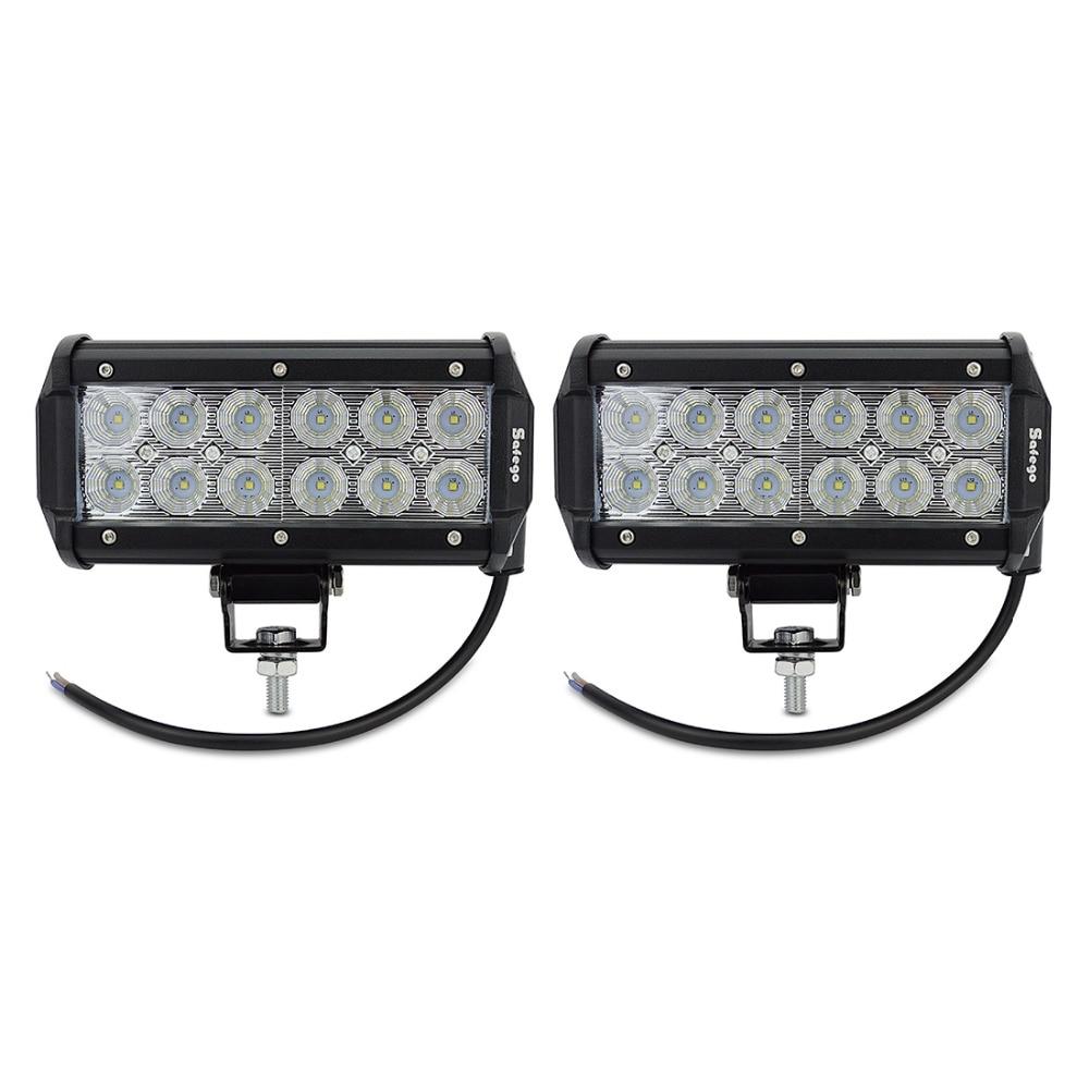 2PCS 7INCH 36W LED WORK LIGHT BAR FLOW OFFROAD LIGHT TRACTOR BOAT ATV - Ավտոմեքենայի լույսեր - Լուսանկար 2