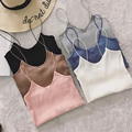 Elastic Slim Tank Top Women Knitted Top Brandy Melville Spaghetti Strap Low Cut Sexy Tops Crops Women For Summer 2016 Camisole
