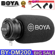 лучшая цена BOYA BY-DM200 Lightning Stereo Microphone Stereo X/Y for iPhone Xs Xr X 8 Plus iPad Air iPod Touch Apple MFI Certified Connector