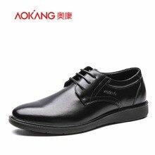 Aokang 2017 Nouvelle Arrivée Hommes chaussures en cuir de Robe De Mode Chaussures Pour Hommes D'affaires Style bout rond Chaussures Size38-43