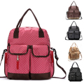 7styles! 2014 large capacity multifunctional mummy nappy bag baby diaper bags with stroller clips diaper changing mat for mom