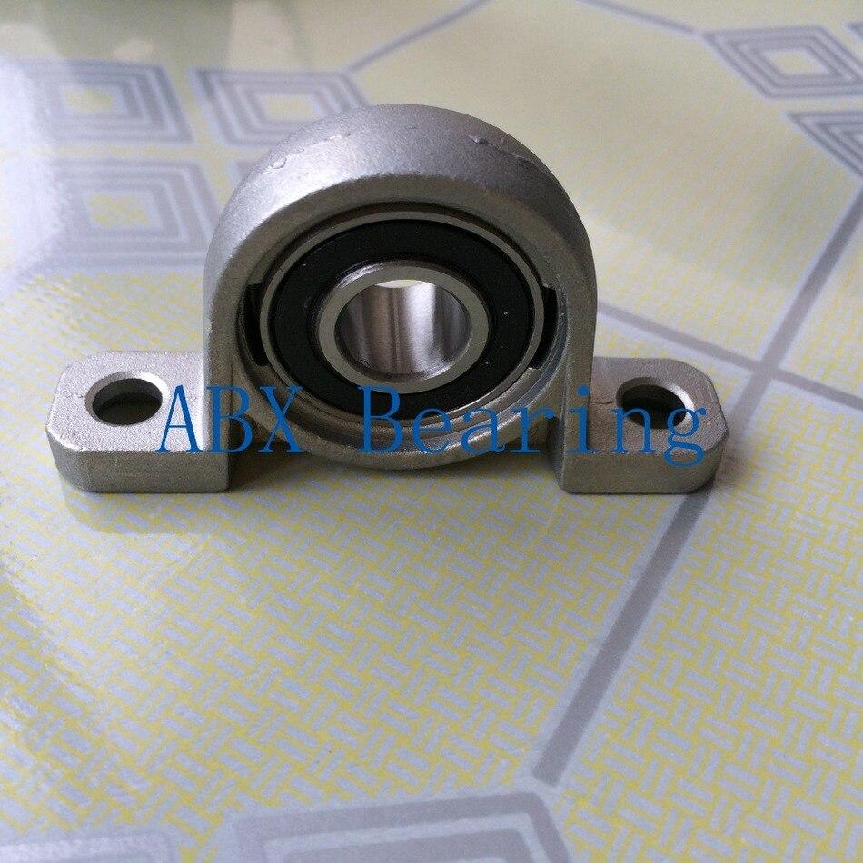 KP000 pillow block ball bearing 10mm Zinc Alloy Miniature Bearings 1pcs kfl006 12mm pillow block bearing flange block bearing cnc parts bearings for machinery equipment