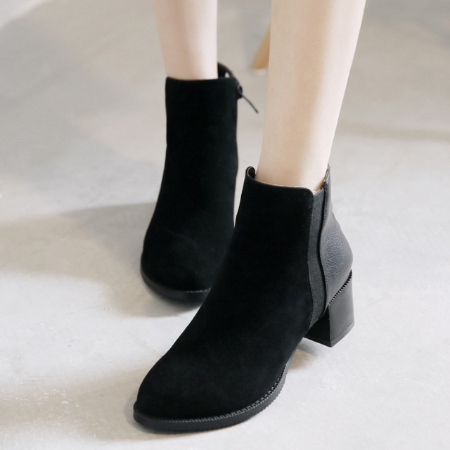 Aliexpress.com : Buy 2015 spring antumn thick heel ankle boots ...