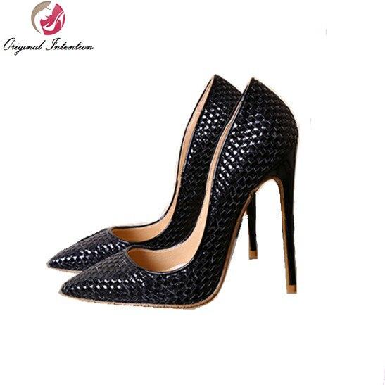 La 10 5 Chaussures Mince Or Femmes Élégant 3 Pompes A411 Taille a413 Sexy L'intention Plus Initiale Noir Bout 2017 Talons Argent Femme Pointu H4qaRw