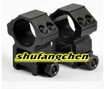 High Profile 1 inch Scope Rings for Weaver 20mm rail (RGWM-25H4)