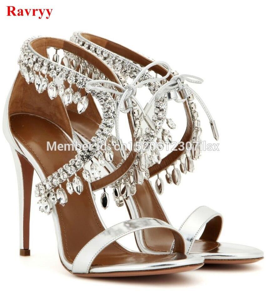 c24b50dab98 ... Wedding Shoes. US  76.99 · Sexy rhinestones Women Sandals Summer Lace  Up Crystal Women Sandals High Heels Thin Heels Weeding Women