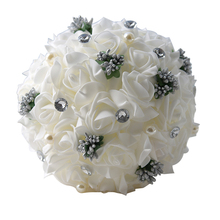 Artificial Flower Handmade Romantic Wedding Bouquet Bridal for Decoration High Quality Bouquets