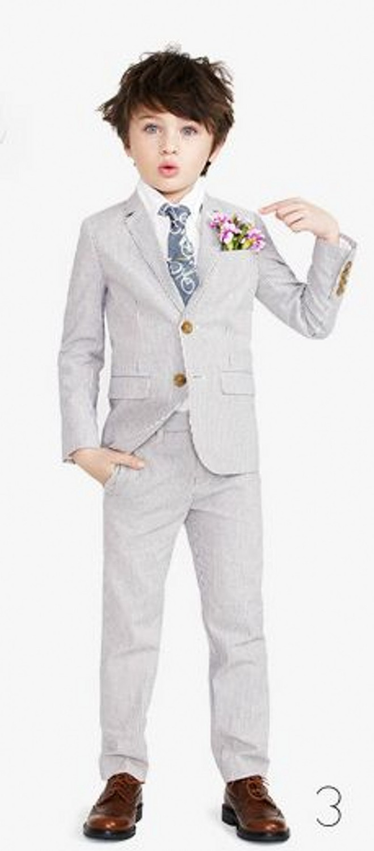 Grey Kid/'s Wedding Groom Tuxedos Boys Children Graduation Party Suits Bespoke