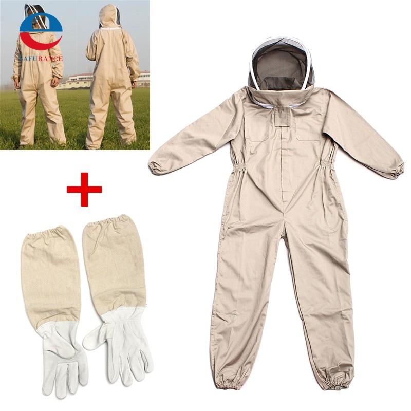 Unisex Cotton Beekeeper Bee Suit Smock Apiculture Costume