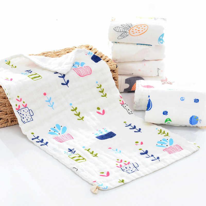 10 piezas 6 capas de alta densidad 100% algodón una clase de gasa de muselina paño de limpieza de bebé pañuelo cara toalla bebé la Saliva toalla 25x50cm