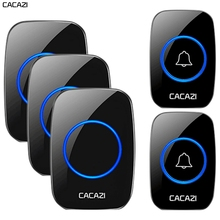 CACAZI Wireless Waterproof Doorbell 300m Range US EU UK AU Plug Home Intelligent