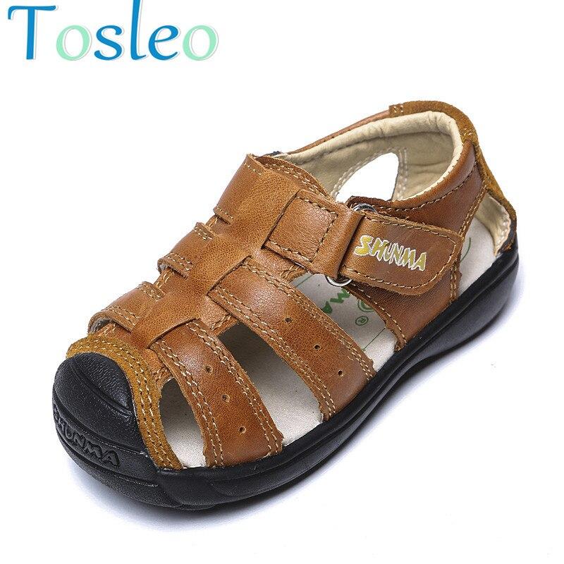 Genuine Leather Boys Sandals Comfortable Summer Shoes 2018 Sandals Kids
