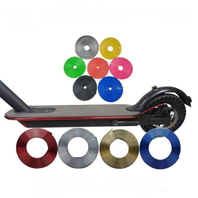 2019 Neue Stoßstange Schutzhülle Roller Körper Streifen Für Xiaomi Mijia M365 Elektrische Skateboard Auto Roller Dekorative Streifen Teile 2019 Offiziell
