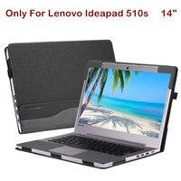 레노버 ideapad 510 s 14 인치 노트북 케이스 노트북 슬리브 크리 에이 티브 디자인 pu 가죽 보호 스킨 펜 선물을위한 분리형 커버