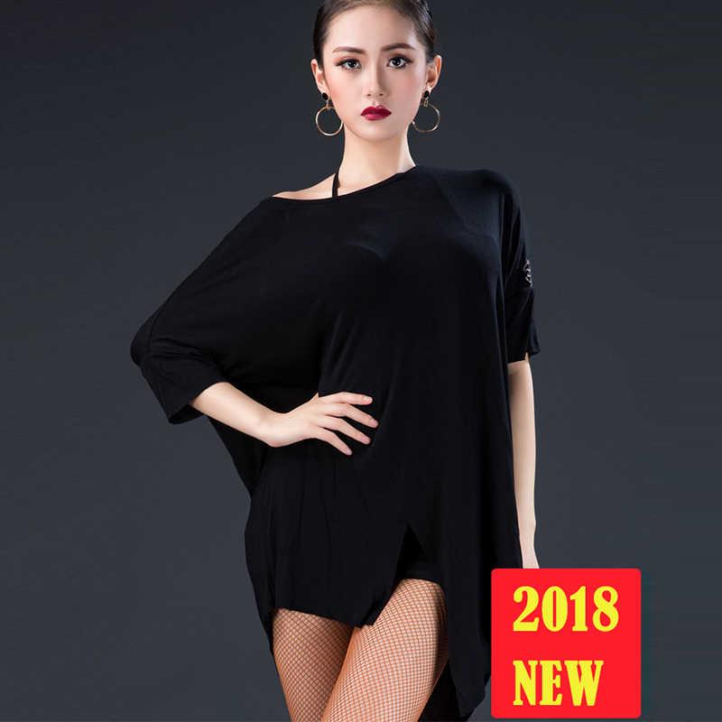 da7770f58c09 6 Colors Latin Dance Tops Female Adult New Practice Clothes Training Dance  Clothing Ballroom Cha Cha