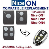 Copy NICE ON1 ON2 ON4 433 92Mhz Rolling Code Remote Control