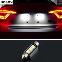BOAOSI 1x Dome Festoon 5050 Error free License Number Plate Light For Mercedes Benz W208 W209 W203 W169 W210 W211 W212 AMG CLK