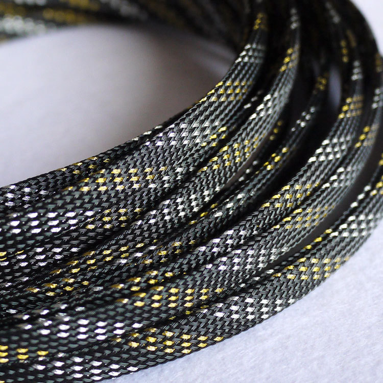 5M 10mm Black Nylon Braided Cable Sleeving Shielding Sheathing ...