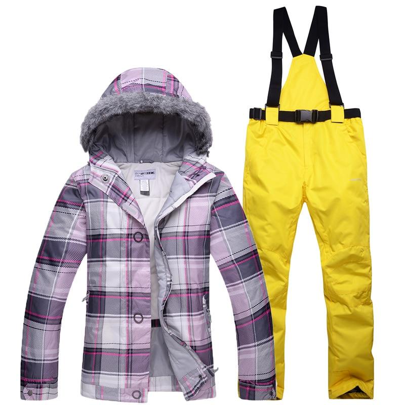 premium selection a3be8 ec0fb NEUE Ski anzüge schnee Jacke hose frauen im freien Snowboard Sets ski  jacken Sportbekleidung Atmungsaktive Wasserdichte Wasserdichte Warme