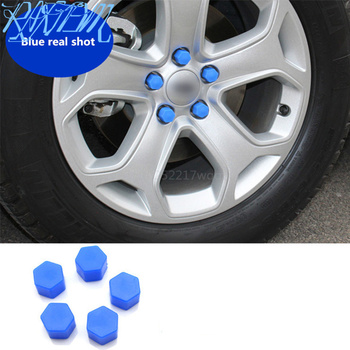Car Styling 20pcs Silica Caps Hub Screw Protector for Volkswagen VW Jetta MK5 MK6 Polo Scirocco Lavida Eos Bora image