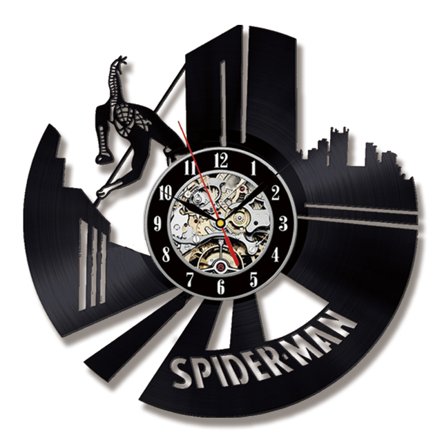 Spiderman Wall Clock Modern Design Decorative Boys Bedroom Clocks ...