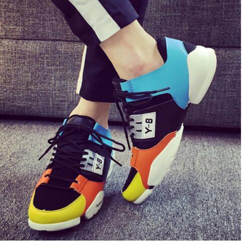 autumn fashion print men casual shoes slip on flat men y 8