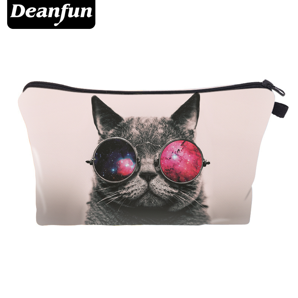 Deanfun Cosmetic Bags 3D Printed Cool Cat Storage Toiletry Travel Cute For Girls Gift  36958Deanfun Cosmetic Bags 3D Printed Cool Cat Storage Toiletry Travel Cute For Girls Gift  36958