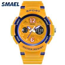 SMAEL для женщин наручные часы для спорта водостойкие белый аналоговые кварцевые цифровые Смарт Мода Горячая женские часы 1632 светодиодный