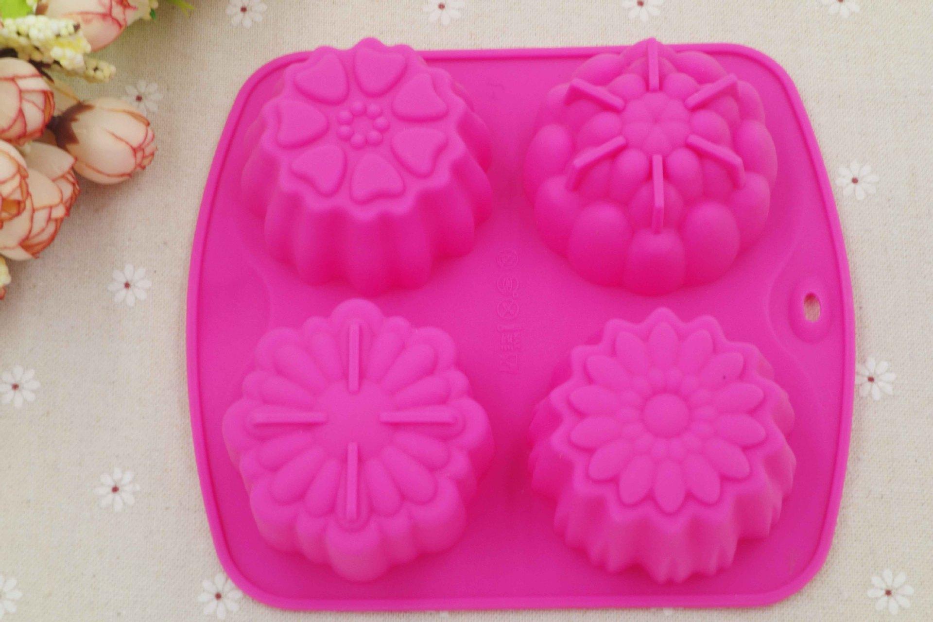 4 Even Pudding Jello Mold Handmade Soap Molds Flower