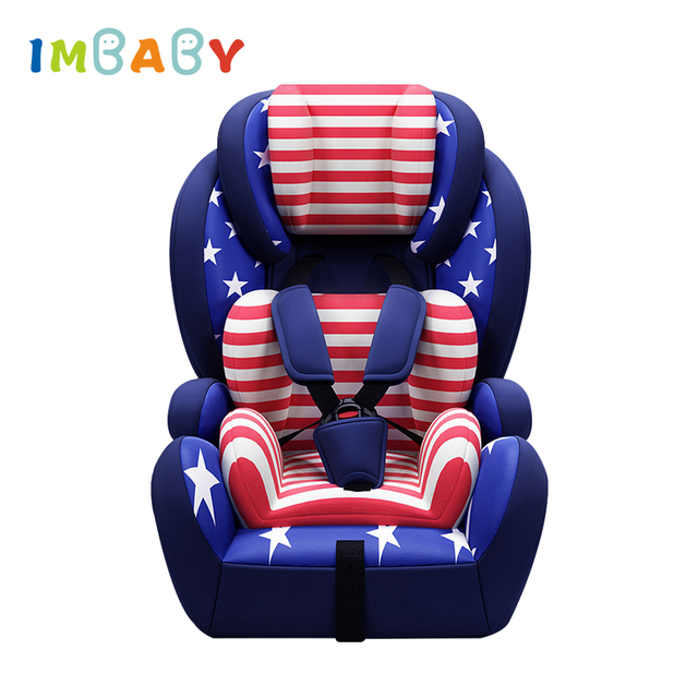 IMBABY Child Car Safety Seat With Cup Holder And Isofix Soft Interface 1 12 Years