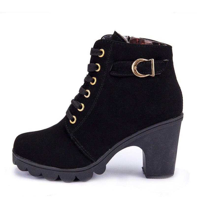 2017 популярные женские ботинки из кожи ботинки на высоком обвинение парня с Blast пряжкой Seal обувь на высоком bloke женские туфли-Li