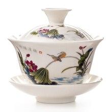 Gaiwan Tee Tasse Terrine Teekanne Chinesischen Traditionellen Kungfu Teekanne keramik Tee Schüssel Tasse Porzellan Sancai Tasse Tee Tasse Sets D002