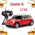 Новый Год Подарок 1/14 Mini Cooper S RC Пульт Дистанционного Управления Игрушки автомобиль Большой Седан Автомобиль Электрический Привод Автомобиля Милые Дети Семьи Прохладным настоящее