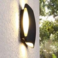 5 pçs/lote 4*3W AC220v 110V Lâmpadas de Iluminação De Alumínio Ao Ar Livre Para Cima e Para Baixo Da Parede 12W Moderno À Prova D' Água LEVOU Jardim Luz Da Parede Luz Da Varanda|Luminárias de parede| |  -