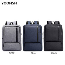 цена на USB Canvas Charging bag Laptop Backpack Hot sale Anti Theft Women Men School Bags For Teenage Girls College Travel Backpack.