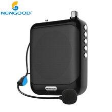 Amplificador de voz Booster Megáfono Micrófono Mini Altavoz Portátil con radio FM TF Tarjeta USB para el Profesor Guía de Promoción