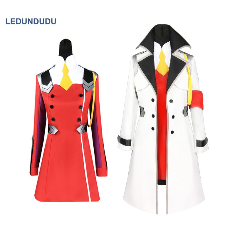 DARLING in the FRANXX Uniform Outfit Suit Anime Code 002 Women Party Dress Cloaks Coat Cosplay Costume Halloween Clothes
