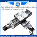 China Factory Precision linear guide module KR100 XY worktable Electric cross slide table  200*200