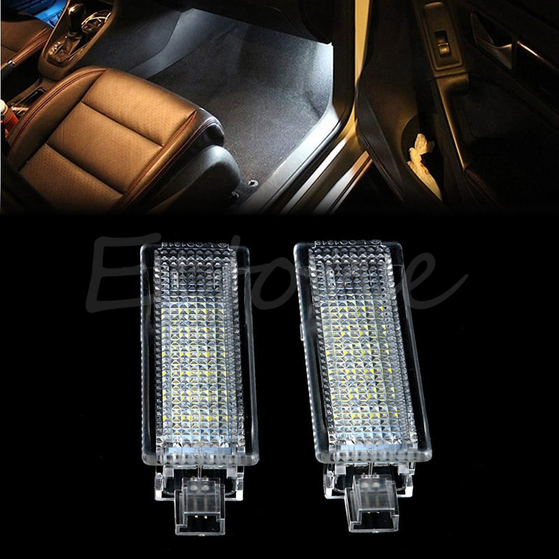 2xLED Footwell Under Door Courtesy Light No Error For BMW E82 E90 E92 E60 E65 X5