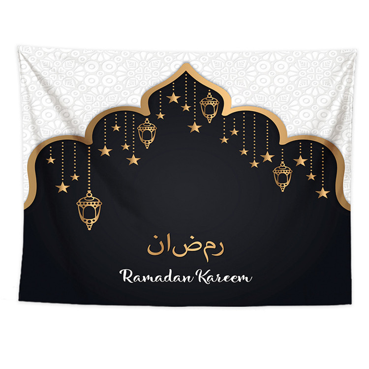 18 Colors Ramadan Background Decoration Wall Tapestry Cloth Hanging Backdrop Eid Mubarak Decoration Islamic Muslim Party