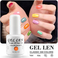 Len de Uñas de Gel Gel Polaco 8 ml LED Gel Barniz UV de Larga Duración Laca Empapa Del Gel Del Clavo de DIY Arte Salon