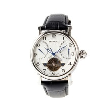Seagull Flywheel Retrograde Date 40 Hours Power Reserve Guilloche Exhibition Back Automatic Mens Watch 819.317