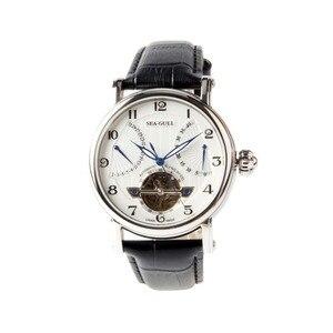 Image 1 - Seagull volant de roue rétro, Date 40 heures, réserve de puissance 40 heures, Guilloche exposition, automatique montre pour hommes 819.317