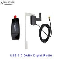 2017 Avrupa Evrensel USB kablosu DAB + Anten usb Kutusu dongle için Android araba dvd oynatıcı Android için DAB DAB Anten uygulama