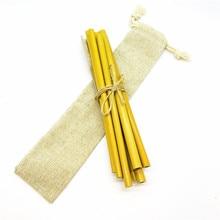 Biodegradable Drinking Straws Reusable Bamboo Straw Pack with Natural Sisal Hemp Brush Zero Waste Vegan Free Set